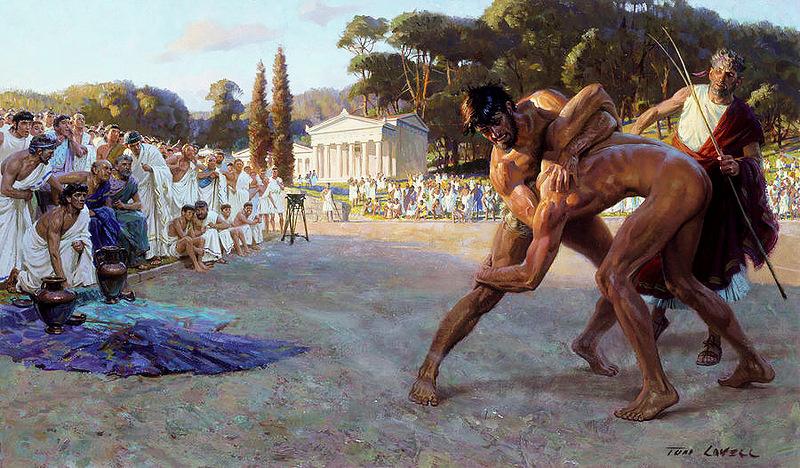 заигрывание ногой в древности фото